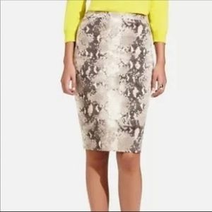 The limited beige snakeskin stretch pencil skirt 6